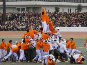 【棒倒】日本独有热血攻防竞赛拳脚擒抱人叠人只为拉倒对方木柱