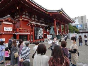 日本振兴国旅东京浅草寺旅游团陆续来(图)