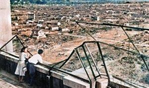 广岛核爆次年情侣俯瞰被毁街市照片主人公现身