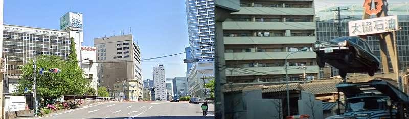港区芝浦(竹芝橋 東京ポートボール方面)の今昔