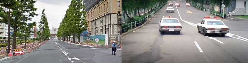 港区芝浦(芝浦運河通り 愛育病院前)の今昔