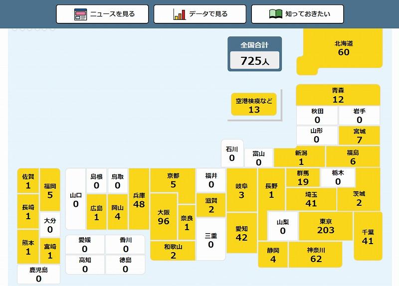 簡単に観たり把握できる「新型コロナウイルス 都道府県別感染者マップ」【連載:アキラの着目】