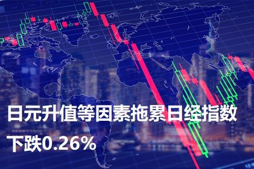 日元升值等因素拖累日经指数下跌0.26%