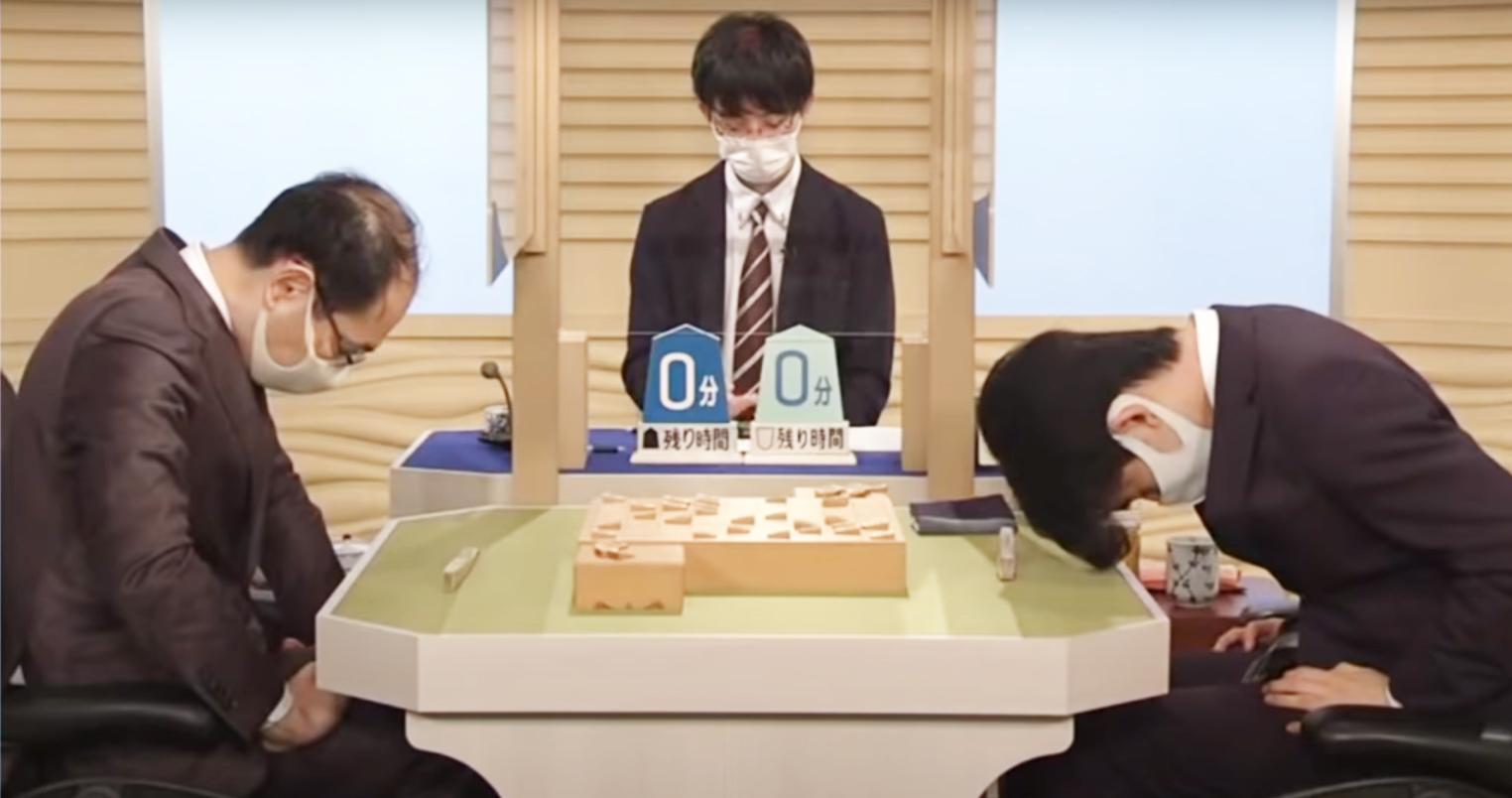 第70回将棋NHK杯トーナメント2回戦で投了した藤井聡太二冠