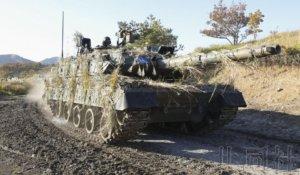 陆上自卫队在大分县举行离岛防卫训练
