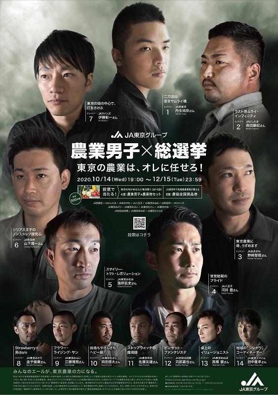 「農業男子 × 総選挙」 JA東京サイトから引用