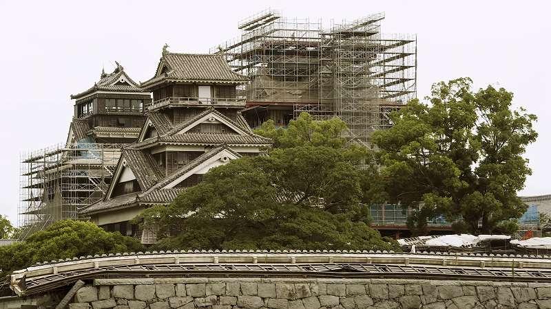 復興中の熊本城 熊本城公式サイトから引用