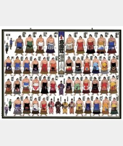 どの力士も同じ縮尺でそっくりに描かれた「令和三年一月場所絵番付」錦絵【連載:アキラの着目】