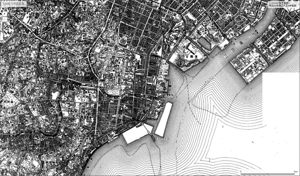 1/20000「東京南部」[明治42年測図大正4年製版 1896-1909]
